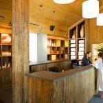 Réception / Accueil / Boutique du Geos Spa de l'hôtel Sacacomie.