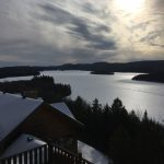 Lac Sacacomie en hiver. Vue de l'hôtel Sacacomie. Photo prise par Luxe Magazine